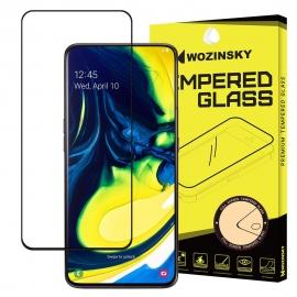 Wozinsky Tempered Glass Full Glue Case Friendly Samsung Galaxy A80/A90 - Black