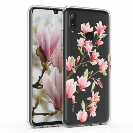 KW TPU Silicone Case Huawei P Smart 2019 - Magnolias Light Pink White (47388.04)