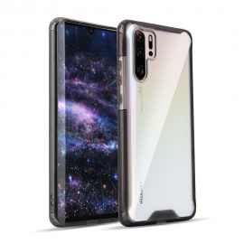 OEM Clear Armor PC Case TPU Bumper Huawei P30 Pro - Black