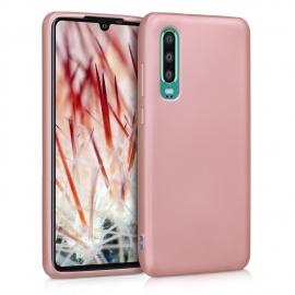 KW TPU Silicone Case Huawei P30 - Metallic Rose Gold (47411.31)