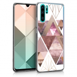 KW TPU Silicone Case Huawei P30 Pro - IMD Design  Light Pink / Rose Gold / White (47422.01)