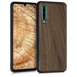 KW Wooden Case Huawei P30 - Walnut Dark Brown (47415.18)
