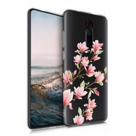 KW TPU Silicone Case Xiaomi Mi 9T - Magnolias Light Pink White (49229.01)