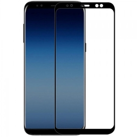 OEM Tempered Glass Blue Star Samsung Galaxy A8 2018 - BLACK