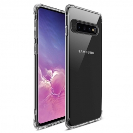 MSVII Shockproof Airbag Case With Strong Corners Samsung Galaxy S10  - Transparent
