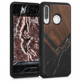 KW Wooden Case Huawei P30 Lite - Wood and Marble walnut (47506.06)