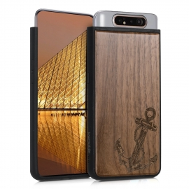 KW Wooden Case Samsung Galaxy A80 - Vintage Anchor walnut (48664.02)
