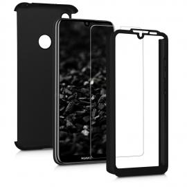 KW Full Body Case & Tempered Glass Huawei Y6 2019 - Metallic Black (48888.68)
