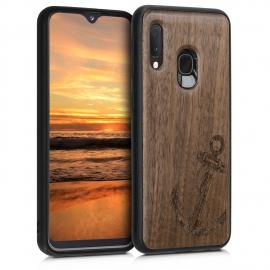 KW Wooden Case Samsung Galaxy A20e - Vintage Anchor (48751.03)