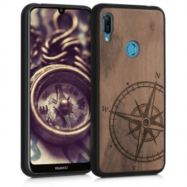KW Wooden Case Huawei Y6 2019 - Baroque Compass (49481.07)