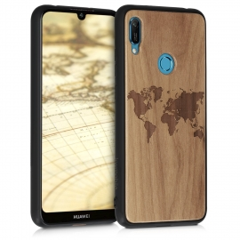 KW Wooden Case Huawei Y6 2019 - Travel Outline (49481.02)