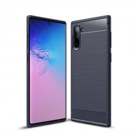 OEM Carbon Case Flexible Cover Case Samsung Galaxy Note 10 Plus - Blue