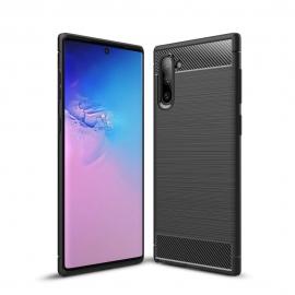 OEM Carbon Case Flexible Cover Case Samsung Galaxy Note 10 Plus - Black