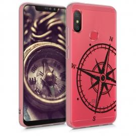 KW TPU Silicone Case Xiaomi Redmi Note 6 Pro - Black / Transparent (46874.01)