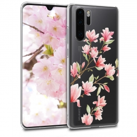 KW TPU Silicone Case Huawei P30 Pro - Magnolias Light Pink White (47421.04)
