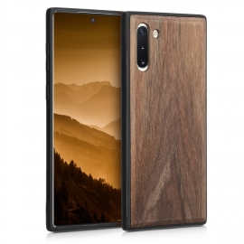 KW Wooden Case TPU bumper Samsung Galaxy Note 10 - Dark Brown (49276.18)