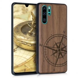 KW Wooden Case TPU bumper Huawei P30 Pro - Navigational Compass (47425.01)