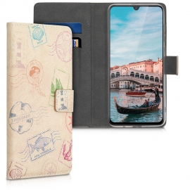 KW Wallet Case Samsung Galaxy A70 - Nautical Stamps (48435.06)
