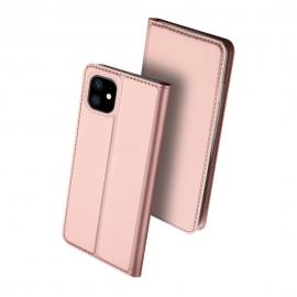 DuxDucis SkinPro Wallet Case iPhone 11 - Rose Gold