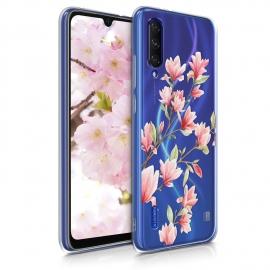 KW TPU Silicone Case Xiaomi Mi A3 - Mangolias Light Pink White (49683.01)