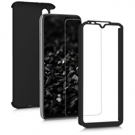 KW Full Body Case & Tempered Glass Xiaomi Mi A3 - Metallic Black (49678.68)