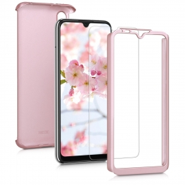 KW Full Body Case & Tempered Glass Xiaomi Mi A3 - Metallic Rose Gold (49678.31)