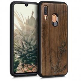 KW Wooden Case Samsung Galaxy A40 - Vintage Anchor (48552.04)