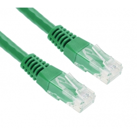 POWERTECH Καλώδιο UTP Cat 5e, CCA, 2m, Green (CAB-N055)