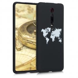 KW TPU Silicone Case Xiaomi Mi 9T - White / Black (50036.01)