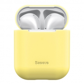 Baseus Ultra Thin Silicone Protective Case for Airpods 1/2nd Generation - Yellow (WIAPPOD-BZ0Y)