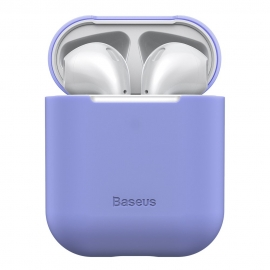 Baseus Ultra Thin Silicone Protective Case for Airpods 1/2nd Generation - Purple (WIAPPOD-BZ05)