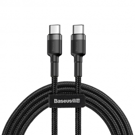 Baseus Cafule Cable Type-C 3A PD 2.0 Type-C to Type-C - Black / Grey (CATKLF-HG1)