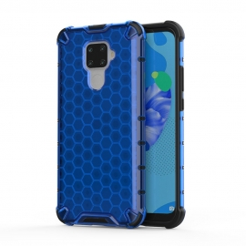 Honeycomb Armor Case with TPU Bumper Huawei Mate 30 Lite - Blue