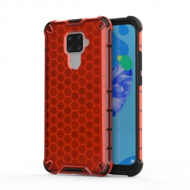 OEM Honeycomb Armor Case with TPU Bumper Huawei Mate 30 Lite - Red