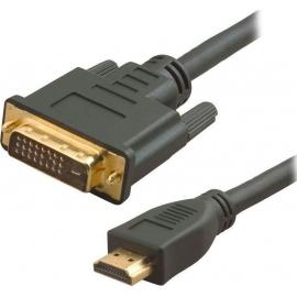 POWERTECH Καλώδιο HDMI 19-pin male σε DVI 24+1 male, 1.5m (CAB-H023)