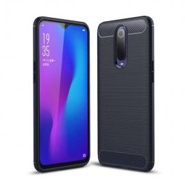 OEM Carbon Case Flexible Cover Case Xiaomi Mi 9T / Mi 9T Pro - Blue