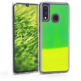 KW Flowing Neon Sand Liquid Case Samsung Galaxy A40 - Neon Green (49346.44)