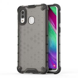 OEM Honeycomb Armor Case with TPU Bumper Samsung Galaxy A40 - Black