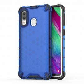 OEM Honeycomb Armor Case with TPU Bumper Samsung Galaxy A40 - Blue