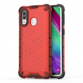 OEM Honeycomb Armor Case with TPU Bumper Samsung Galaxy A40 - Red