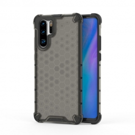 OEM Honeycomb Armor Case with TPU Bumper Huawei P30 Pro - Black