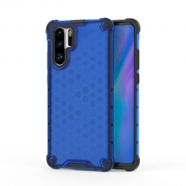 OEM Honeycomb Armor Case with TPU Bumper Huawei P30 Pro - Blue