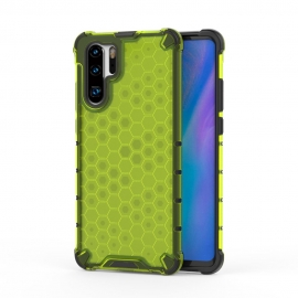 OEM Honeycomb Armor Case with TPU Bumper Huawei P30 Pro - Green