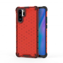 OEM Honeycomb Armor Case with TPU Bumper Huawei P30 Pro - Red