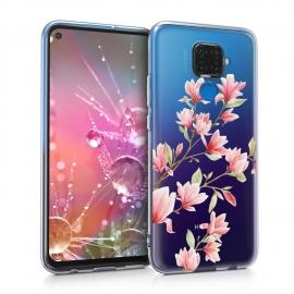 KW TPU Silicone Case Huawei Mate 30 Lite - Magnolias Light Pink White (50133.05)