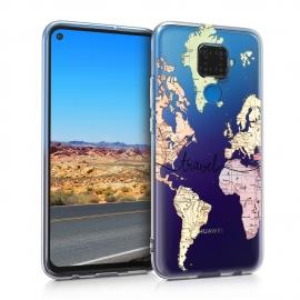KW TPU Silicone Case Huawei Mate 30 Lite - World Map Travel (50133.04)