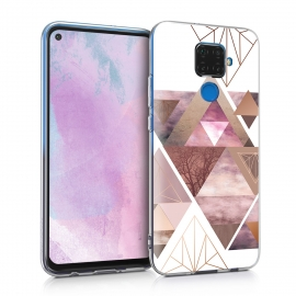 KW TPU Silicone Case Huawei Mate 30 Lite - Patchwork Triangles (50165.06)