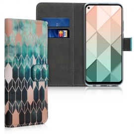 KW Wallet Case Huawei Mate 30 Lite - Glory Blue / Rose Gold (50148.03)