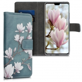 KW Wallet Case Huawei Mate 30 - Magnolias Taupe / White / Blue Grey (50145.02)