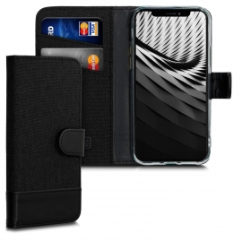 KW Fabric / PU Leather Wallet Case Apple iPhone 11 Pro - Black (50605.01)